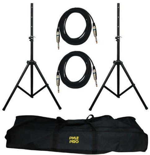 "Brand New Pyle Pro Pmdk102 Speaker Accessory Package With (2) Pole Mount Stands + Travel Bag + (2) 1/4"" Cables **Handles Speakers Up To 100 Pounds!** This Is The Best Quality Stand On The Market, Check The Features Out Below"