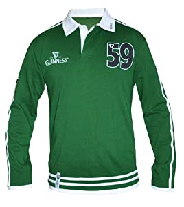 Guinness Green Traditional Rugby Jersey - L