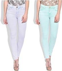 Addyvero Slim Fit Women's Multicolor Jeans