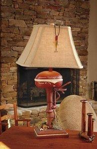 Vintage Direct Cl3404 Boat Motor Table Lamp Aged Walnut