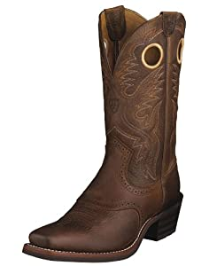 Ariat Mens Heritage Roughstock Western Brown Oiled Rowdyw/s Leather Boot 13 D US