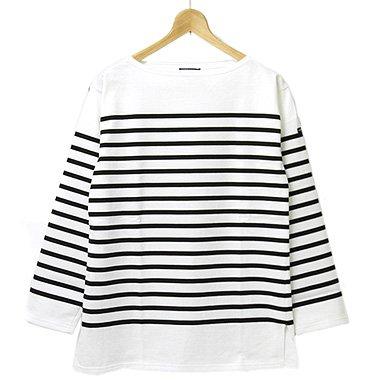 (セントジェームス)SAINTJAMES 長袖ボーダーTシャツ NAVAL II ナヴァル 男女兼用バスクシャツ NEIGE/NOIR[並行輸入品]