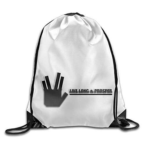 VINCEIE Live Long And Prosper Durable Drawstring Sack Bag (Wine Of Fire Vulcan compare prices)