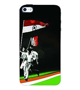 Fuson 3D Printed India Flag Designer Back Case Cover for Apple iPhone 4 - D606