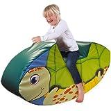 Implay® Soft Play Children's Sea Turtle Rocker Activity Toy - 610gsm PVC / High Density Foam - Green - 100cm x 25cm x 50cm