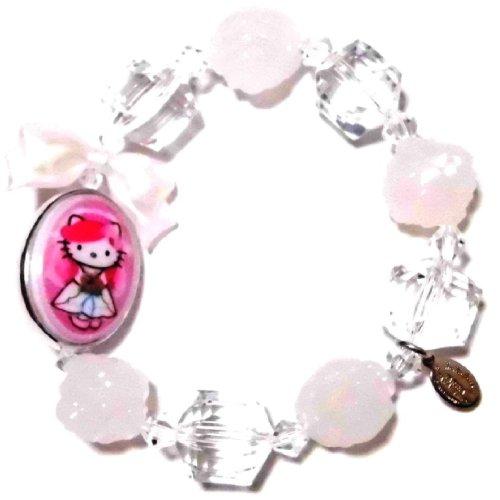 TARINA TARANTINO (タリナタランティーノ) Los Angeles Kitty PINK HEAD PORTRAIT MULTIBEAD Hello Kitty bracelet white collar & accessories
