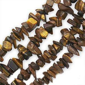 Tiger Tigers Eye Gem Chip Beads 8mm x 4mm - 36 Inch Strand