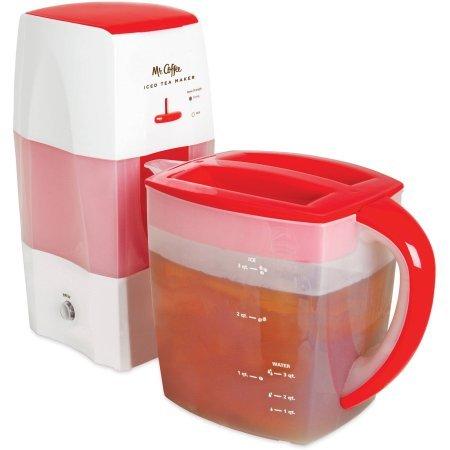 Mr. Coffee Fresh Tea Iced Tea Maker, TM75RS-RB-1 Red