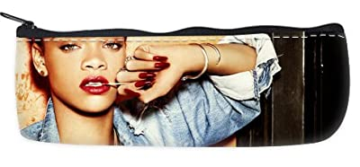Rihanna Pencil Case School Pencil Case Cosmetic Makeup Bag Storage Student Stationery Zipper Wallet