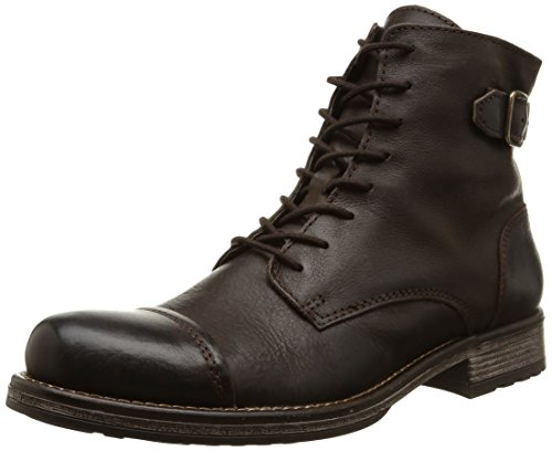 JACK & JONES Jjsiti Leather Boot Brown Stone, Stivaletti classici non imbottiti, corti uomo, Marrone (Braun (Brown Stone)), 44