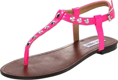 Steve Madden Women'S Virrtue Thong Sandal,Pink Neon,9 M Us front-938516