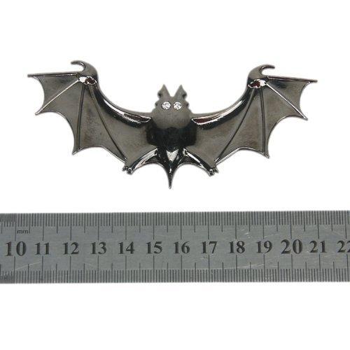 TOOGOO(R) 3D Chauve-souris Embleme de Voiture de Metal Chrome Autocollant d'insigne - Noir