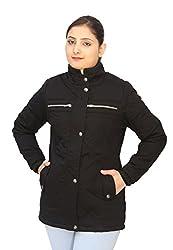 Romano Classy Black Warm Winter Jacket for Women