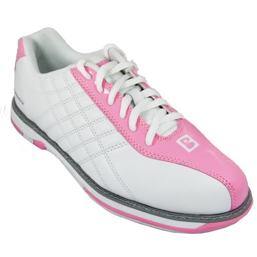 Brunswick Women's Glide Bowling Shoes (White-Pink, 9) at Sears.com