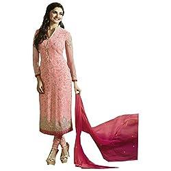 Radhika Peach Georgette Dress Material
