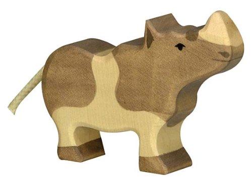 Holztiger Rhinoceros Wooden Figure (Small) - 1