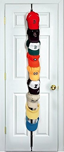 CapRack18 - Baseball Cap Holder (Black) (Baseball Hat Rack compare prices)