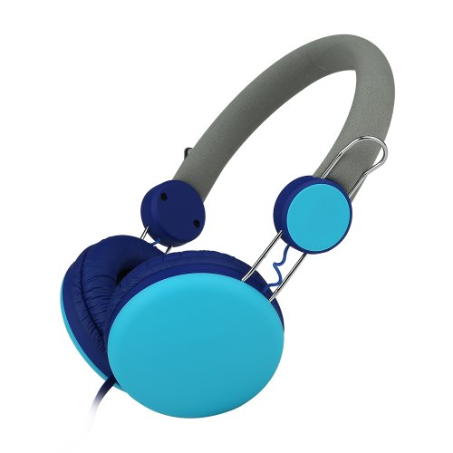 E'Max® I30 Lightweight Portable Stereo Earphone Over Ear Headphones Headset For Mp3,Mp4,Pc,Tablet,Most Smartphone Blue