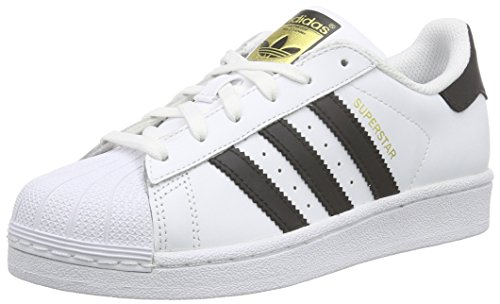 adidas Originals - Superstar Foundation, Sneakers per bimbi, Ftwr White/Core Black/Ftwr White, 38.5 EU