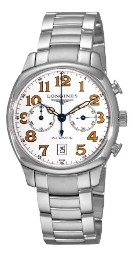 Longines Men's L27054236 Spirit White Chronograph Dial Watch