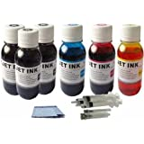 20 oz (600 ml) Jumbo Canon Printer Ink Refill Kit Color & Black