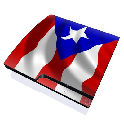 Puerto Rican Flag Design Skin Decal Sticker for the Playstation 3 PS3 SLIM Console