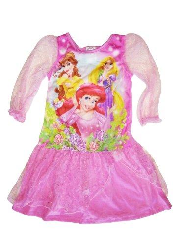 Disney Princess Nachthemd, Kleid mit Tüll Gr. 92-98 (US 3T) Belle, Arielle, Rapunzel
