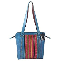 A&E Womens Sling Cutwork Blue Color Bags