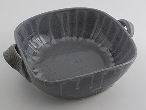 Stoneware Baker - Handmade Ceramic Serving Dish - Squared Open One Quart Casserole - Muted Slate Blue Gray - Ready to Ship - Wedding Gift - Housewarming Gift (1quart Baking Dish compare prices)