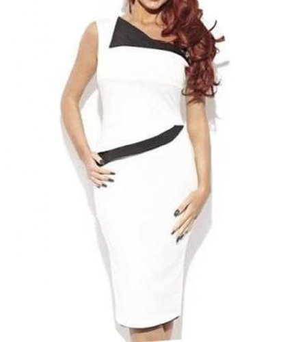 WIIPU Womens Sleeveless business casual Bodycon Fitted Pencil Dress(J270)