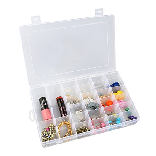 oulii-adjustable-36-grid-jewelry-organizer-box-storage-container-case-with-removable-dividers-clear