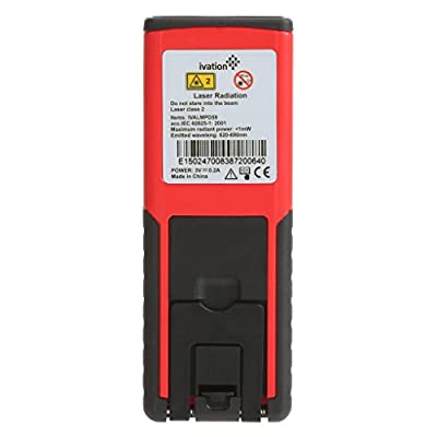 IvationTM Handheld Laser Distance Measure - Perfect Measuring Tool for All Spaces, from Ivation