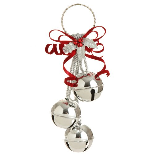 RAZ Imports – Silver Metal Jingle Bell Cluster 15″