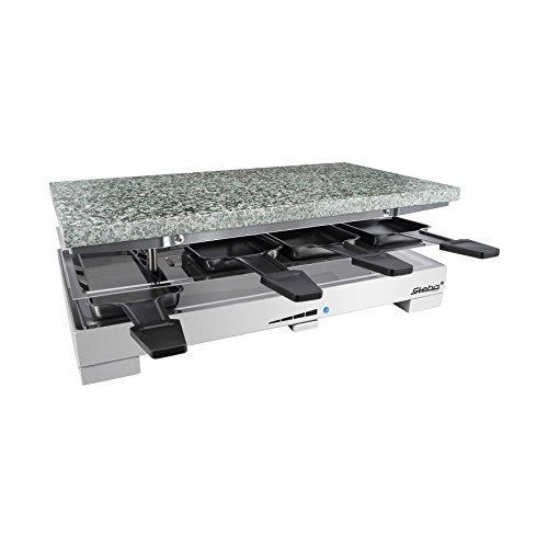 De qualité Premium Raclette Dispositif avec chaud Pierre Pierre naturelle 1200 Watts Acier inox