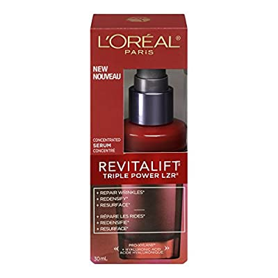 L'Oreal Paris Revitalift Triple Power concentrated serum Treatment For All Skin Types, 1 Fluid Ounce