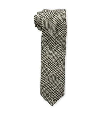 Bruno Piattelli Men's Slim Wool Plaid Tie, Taupe