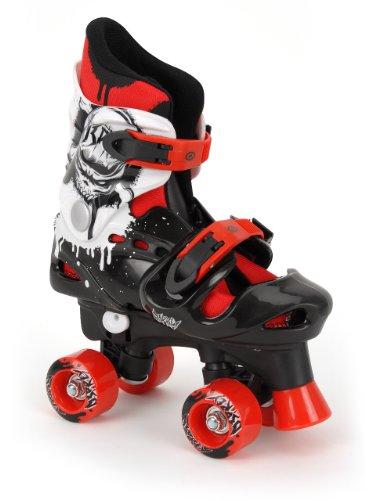 osprey-patines-infantiles-en-paralelo-ajustables-negro-blanco-rojo-talla-32-36