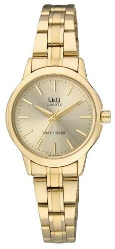 Q&Q Women's Analog Watch with Stainless Steel Bracelet and Gold Tone Dial Q861J010Y
