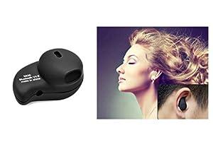 Senhai kleinste der Freisprech drahtlose Bluetooth 4.0 Invisible Earphones Headsets Ohrhörer Kopfhörer mit Mikrofon für iPhone Samsung HTC Fahrwerk Xiaomi Sony Lenovo usw. Die meisten Smartphone. (Black)