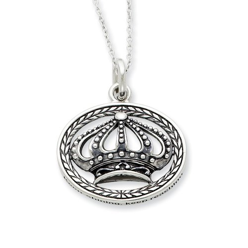 Sterling Silver Keep Shining, Keep Reaching Sentimental Expressions Necklace