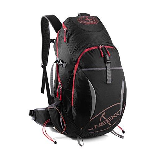 Alpinisme sac / grande capacité / sac de randonnée imperméable à l'eau en plein air sac à dos Voyage-noir 40L