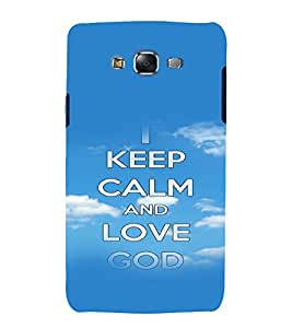 printtech Keep Calm Quotes Back Case Cover for Samsung Galaxy Quattro i8552 / Samsung Galaxy Quattro Win i8552