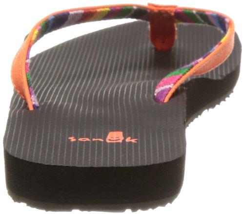 Sanuk Women's W Maritime Flip Flop,Orange,10 M US
