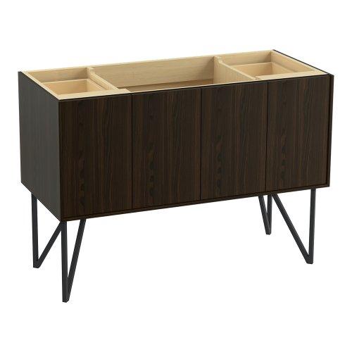 Kohler K-99544-Lg-1Wj Jute Vanity With Furniture Legs 2 Doors And 2 Drawers, 48-Inch, Jersey Oak