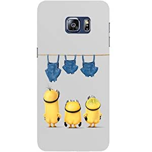 Casotec Minion Moivie Design Hard Back Case Cover for Samsung Galaxy S6 edge Plus