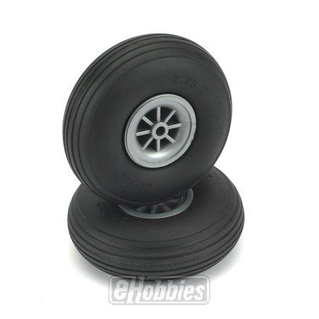 """Du-Bro 275T 2-3/4"""" Diameter Treaded Surface Wheel (2-Pack)"""