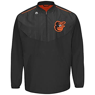 Majestic Baltimore Orioles Half Zip Cool Base On-Field Training Jacket