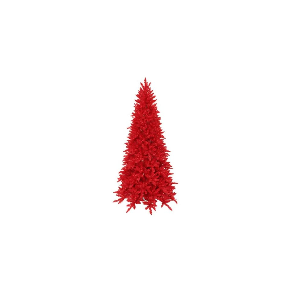 7.5 Pre Lit Red Ashley Spruce Artificial Christmas Tree