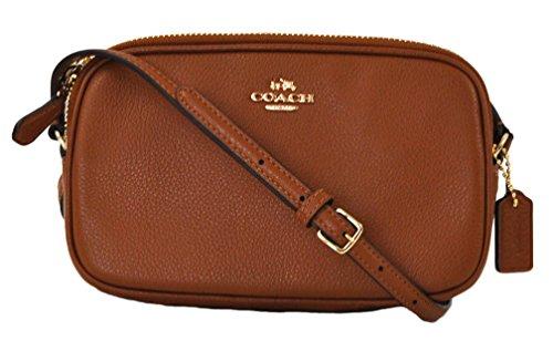 COACH Pebble Leather Crossbody Saddle  Bag