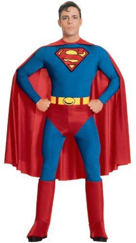 DC Comics Official Retro Superman Costume - S to XL